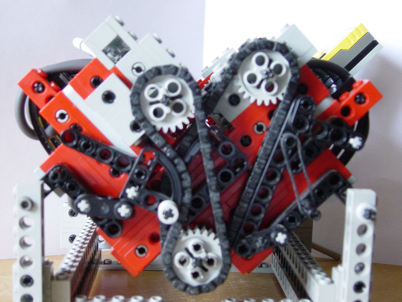 how to build a v8 engine in solidworks